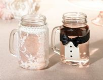 Bride & Groom Drink Glass Covers